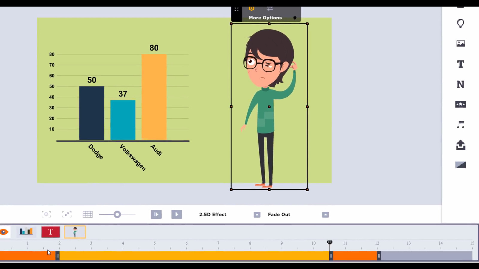 how to create an animated bar graph lesson in animaker
